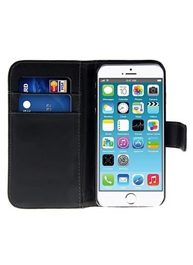 Microsonic Cüzdanlı Standlı Deri iPhone  6 (4.7'') Siyah Renkli
